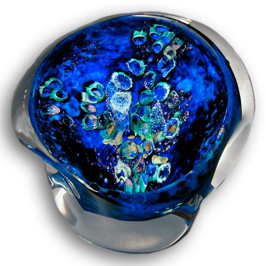 Inscape Geode Medium Blue Clear